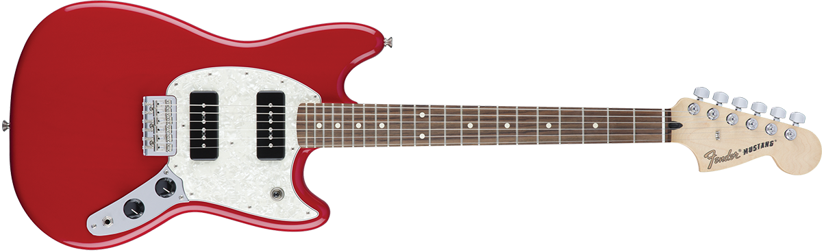 Drawing guitar red. Fender duo sonic hs
