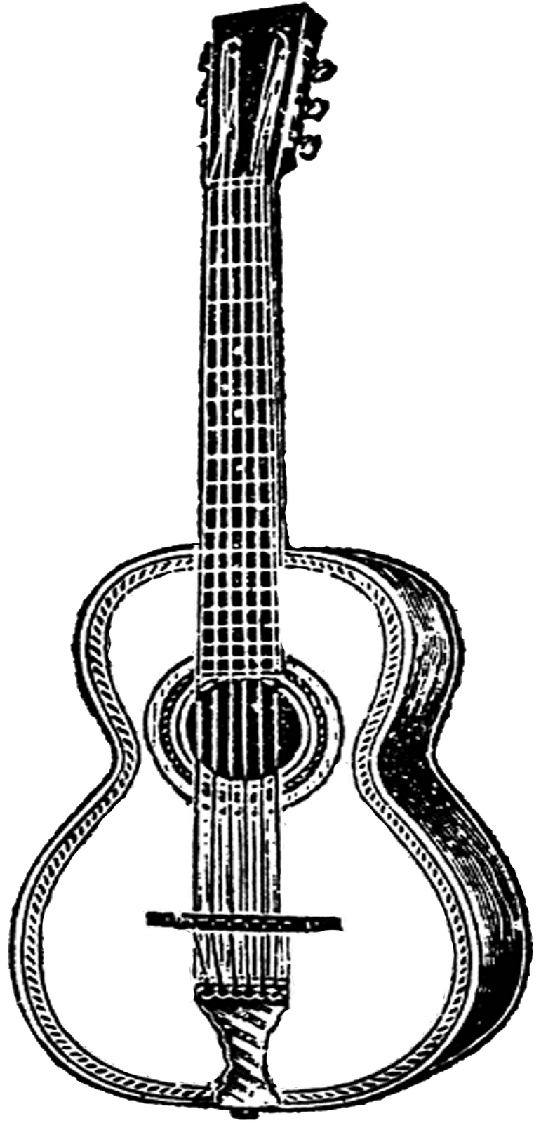Drawing Guitar Reference Transparent Png Clipart Free Download