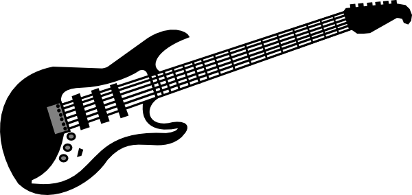 Drawing guitar rock. Clipart