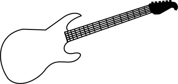 Drawing guitar rockstar. Collection of clipart