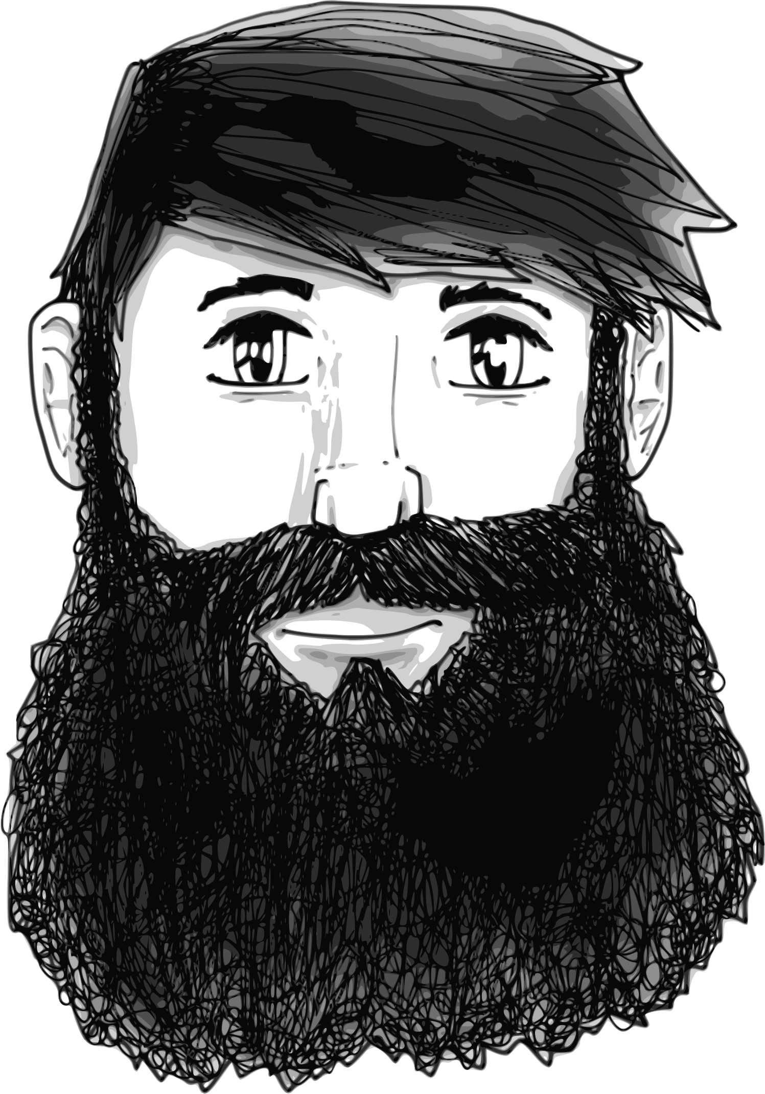 Drawing guys beard. Clipart a guy with