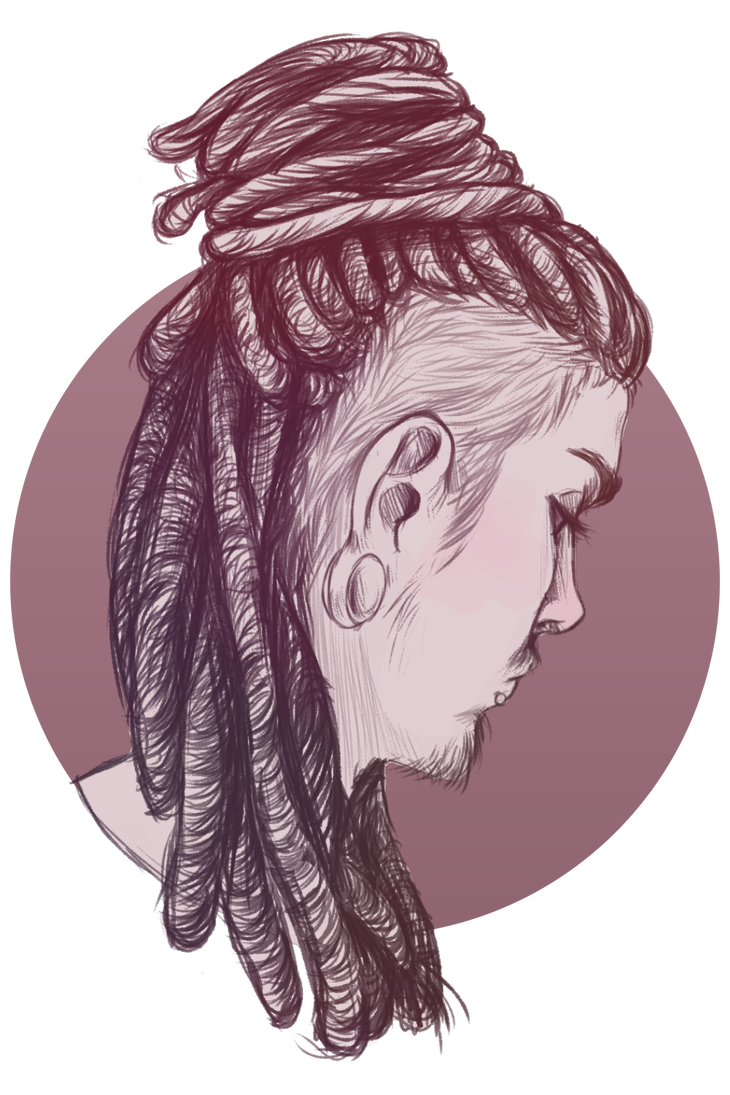 Drawing guys dreadlock. Dreads by cynvii on