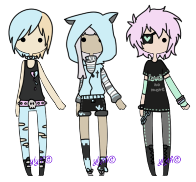 Outfits drawing bad boy. Pastel goth closed by