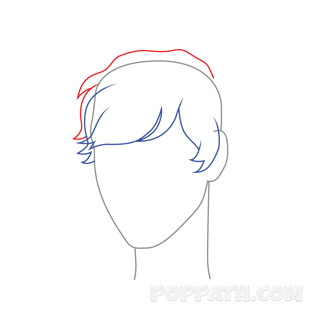 Drawing guys hairstyle. How to draw male