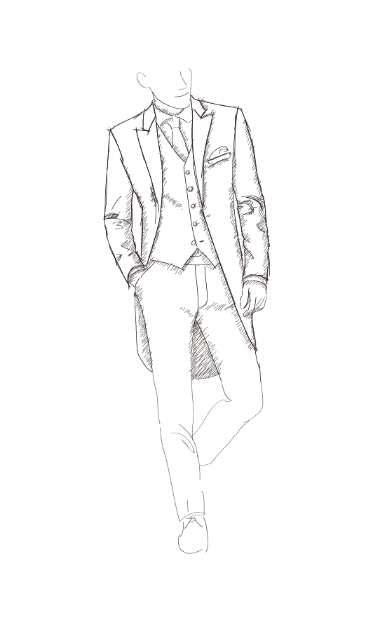 Drawing guys male clothes design. Jantzen tailor mens formal