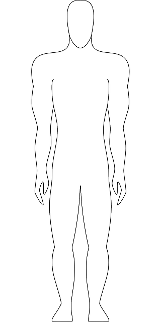 Drawing guys outline. Collection of man
