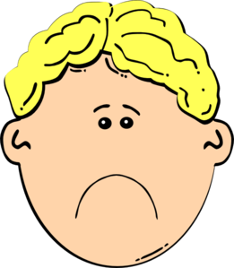 Drawing guys sad boy face. Clip art at clker
