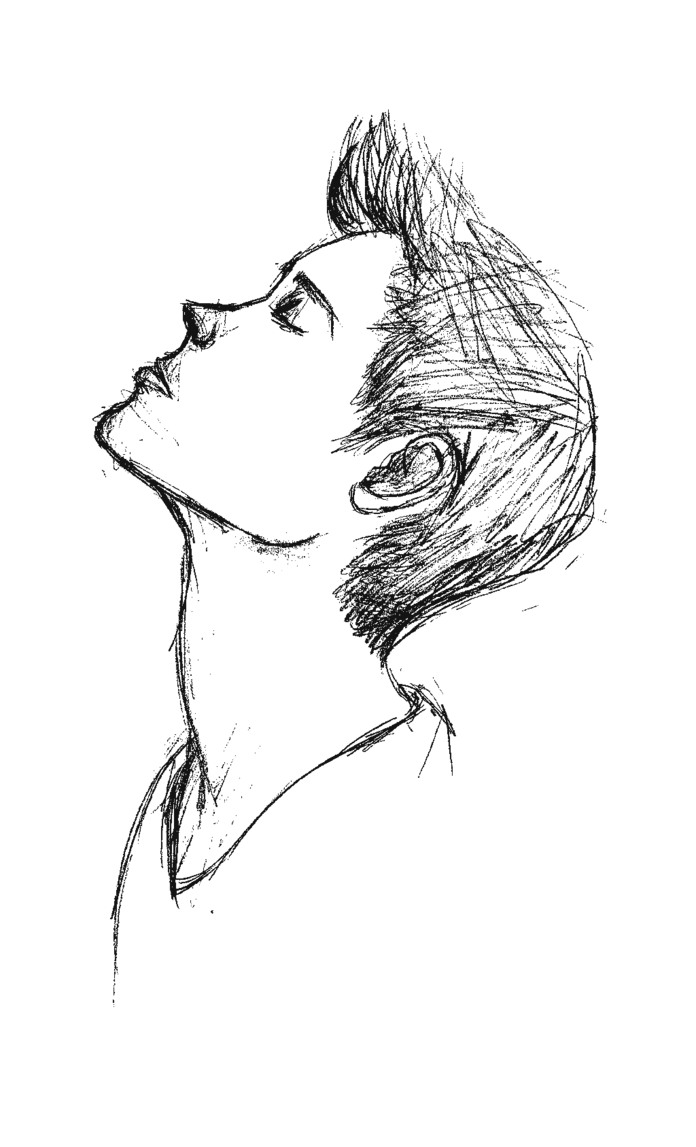 Drawing guys side profile. Collection of boy