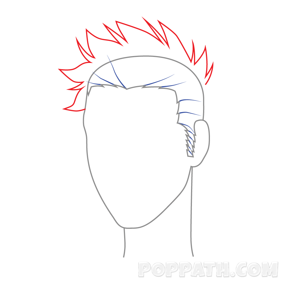 Drawing guys spiky hair. How to draw lajoshrich
