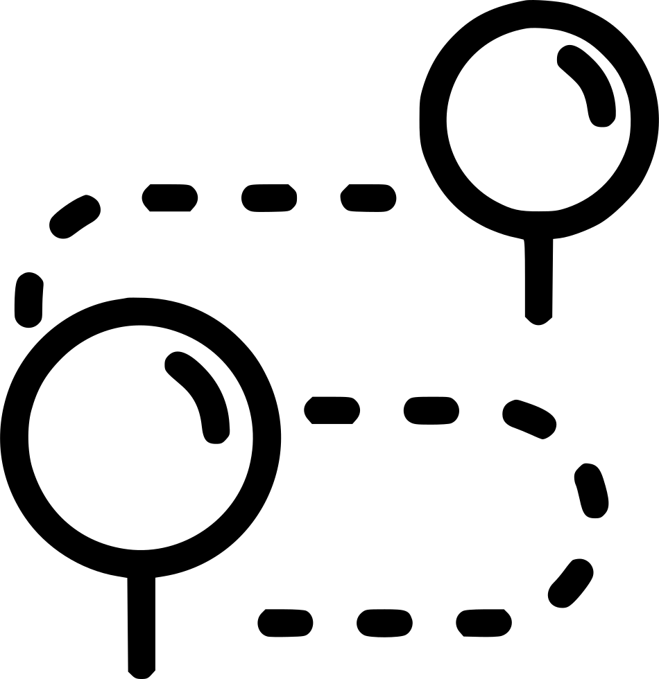 Drawing hairlines black marker. Direction pin plan travel