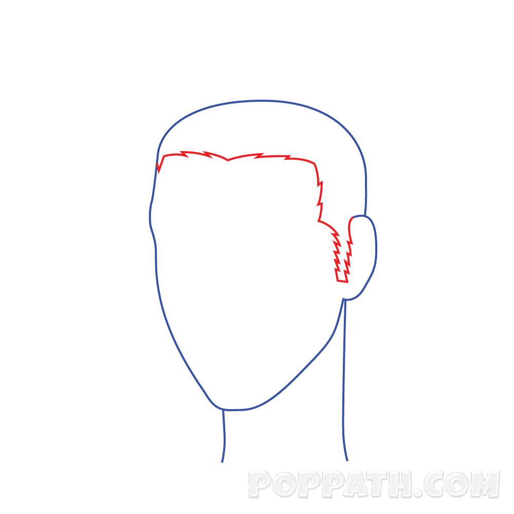 Drawing hairlines boy. How to draw male