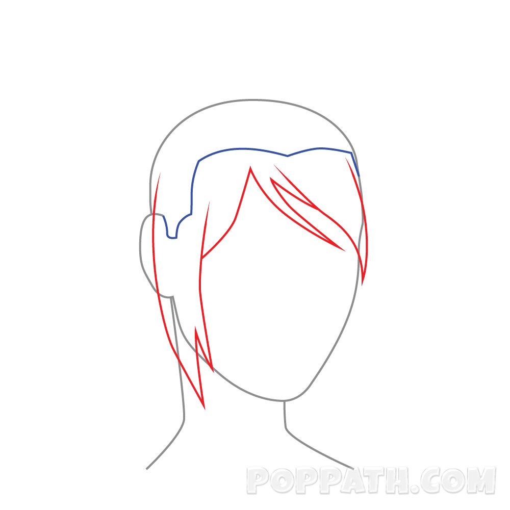 Drawing hairlines hair parting. How to draw female