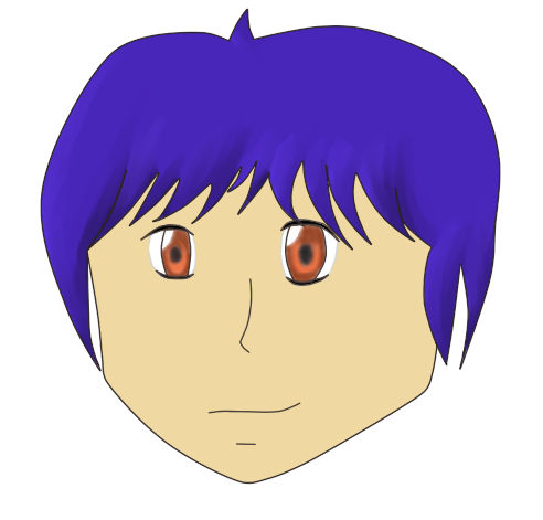 Drawing shade anime. Head first time shading
