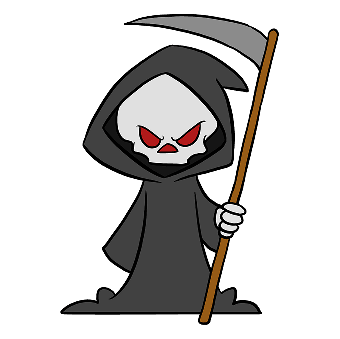 Transparent reaper drawn. How to draw the