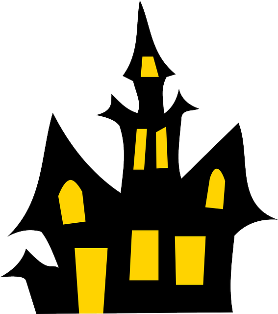 Drawing halloween haunted house. Png figuur zagen pinterest