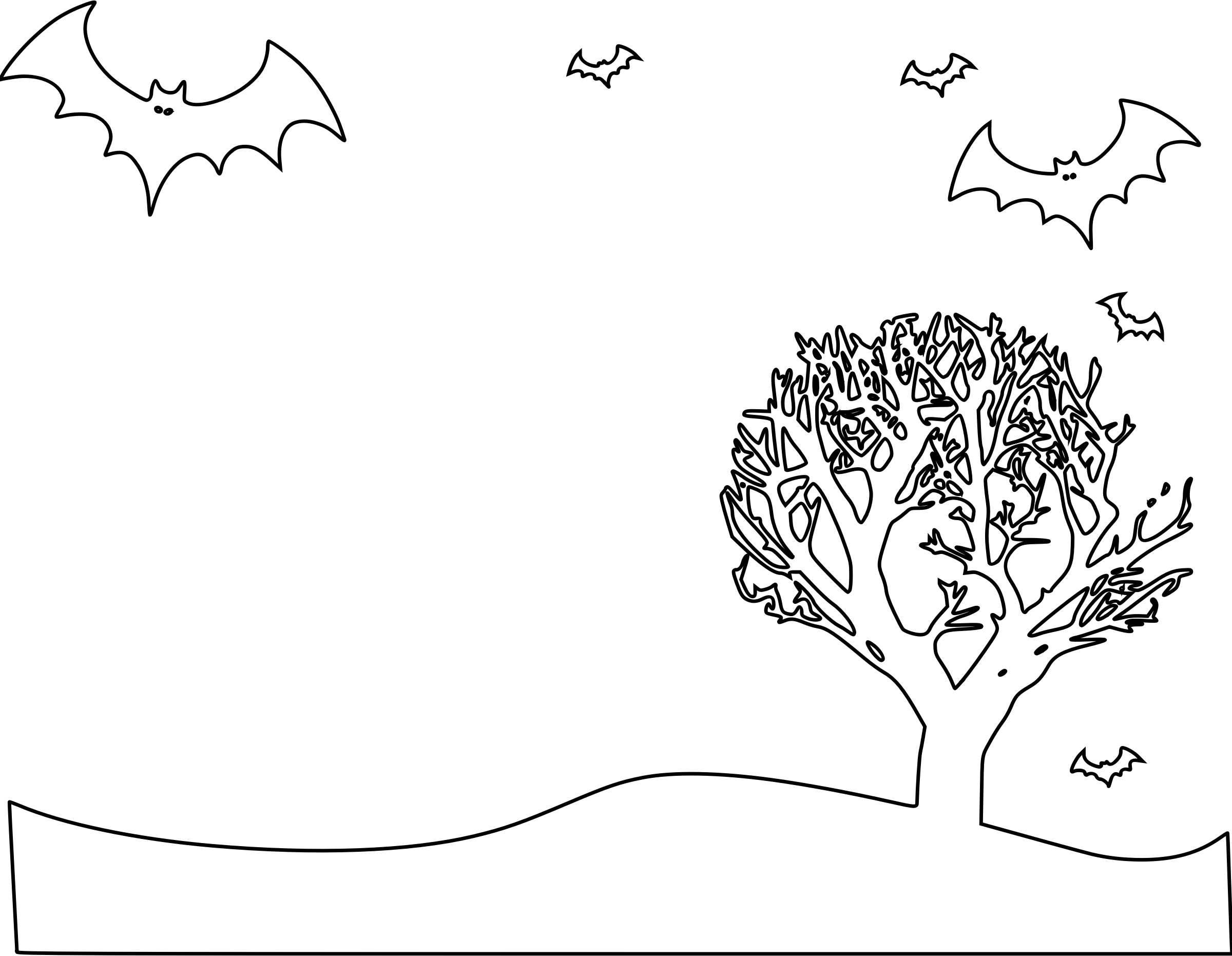 Drawing halloween landscape. Collection of high