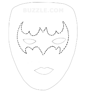 Drawing halloween mask. A list of scary