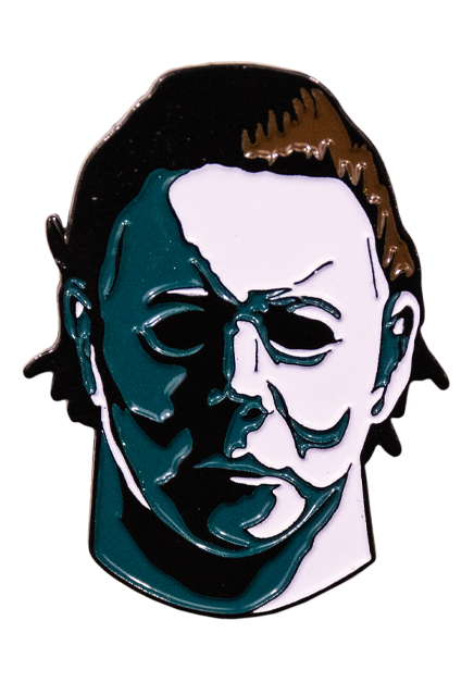 Pinhead drawing mike myers halloween. Michael enamel pin