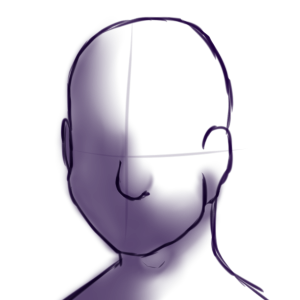Drawing headphones head. From by reference bot