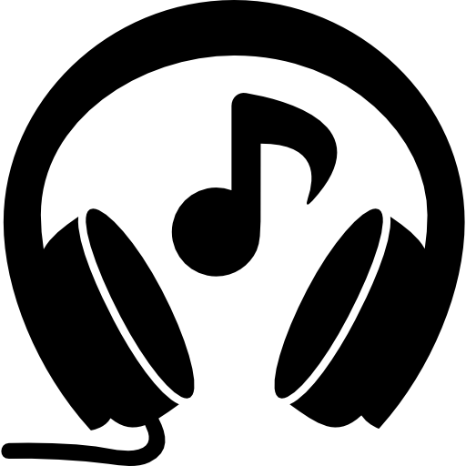 Drawing headphones music note clipart. With free icons icon