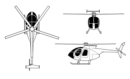 Drawing helicopters mini helicopter. Md wikipedia mde orthographical