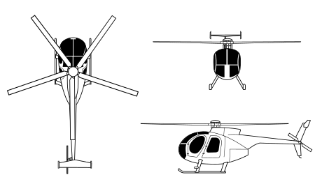 Drawing helicopters mini helicopter. Md wikipedia c orthographical
