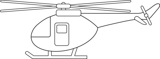 Drawing helicopters outline. Collection of helicopter