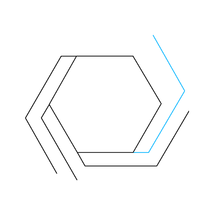 Drawing hexagon. How to draw an