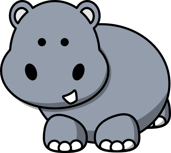 Drawing hippopotamus. Clipart hippo huge