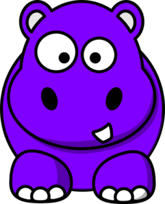 Drawing hippopotamus purple cartoon. Hippo cartoons of the