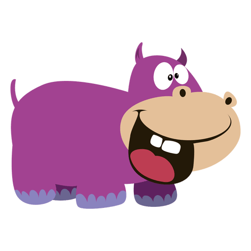 Drawing hippopotamus purple cartoon. Horse clip art transprent