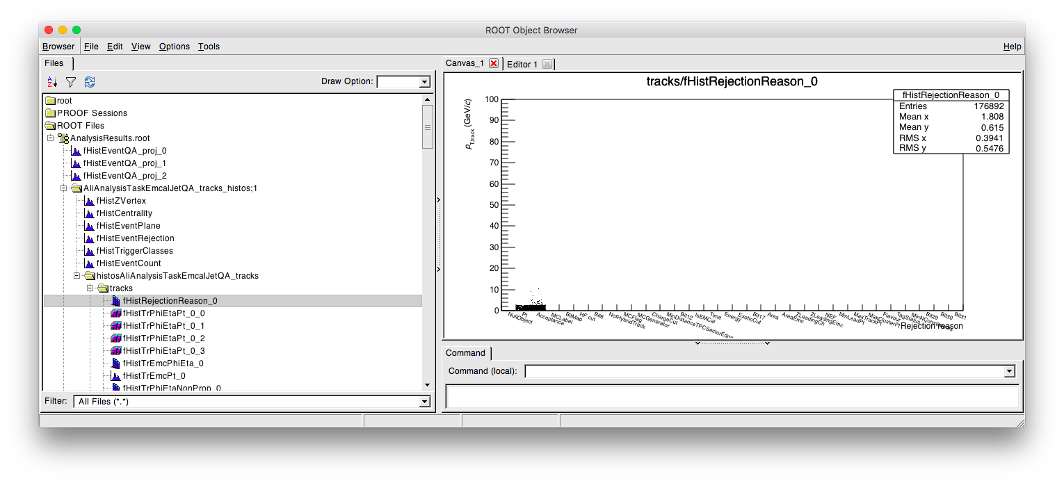 Drawing histograms root. Load in files forum