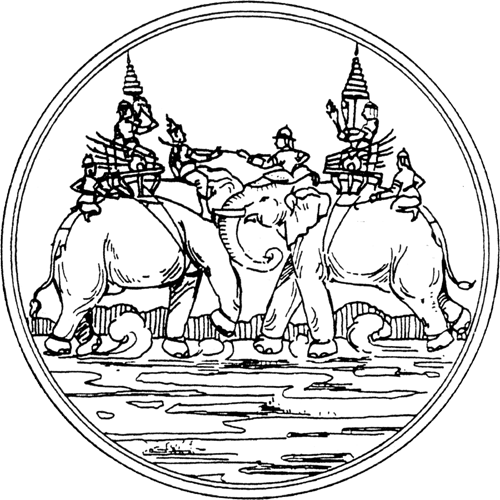 Drawing history war. The elephant through an