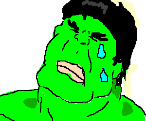 Drawing hulk. The incredible crying by