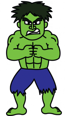 Drawing hulk. How to draw from