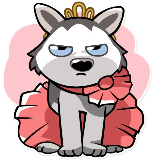 Drawing husky bad. Imessage stickers by overboldapps