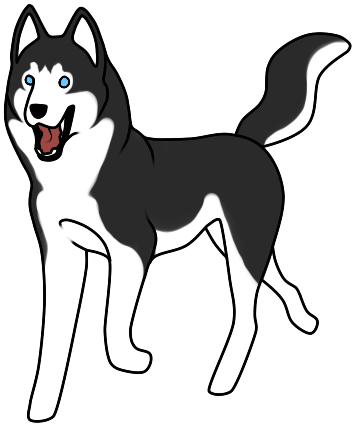 Husky clipart siberian husky. Pencil and in color
