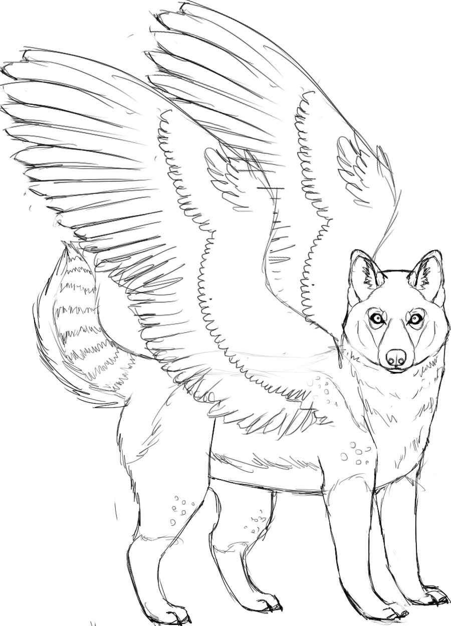 Drawing husky colouring page. Free coloring pages of