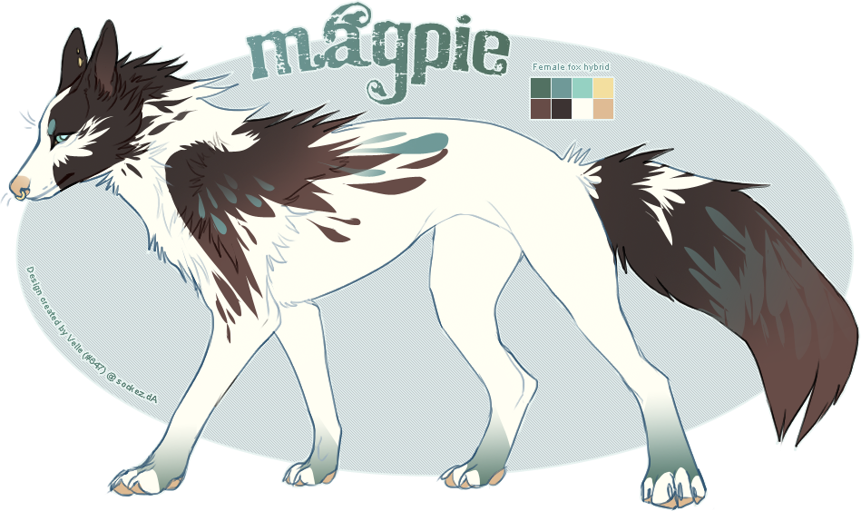 Drawing husky epic. Magpie by vellez on