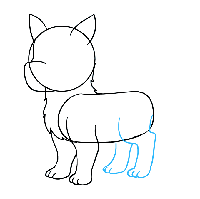 Drawing husky line. How to draw a