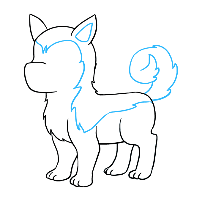 Drawing husky detailed. How to draw a