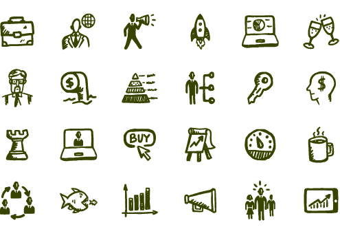 Drawing icons business. Busy iconography pinterest free
