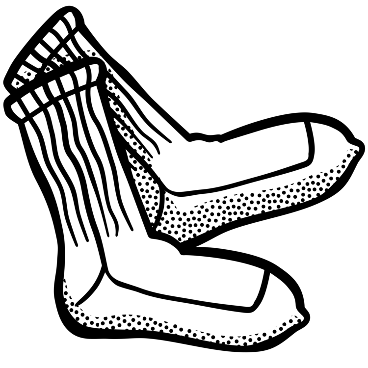 Drawing icons clip art. Sock line clothing computer