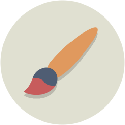 Drawing icons color. Art brush icon myiconfinder