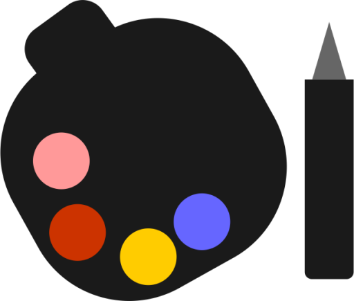 Drawing icons palette. Paint color icon free