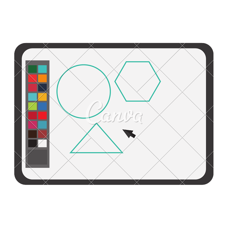 Drawing icons software. Draw colors icon by
