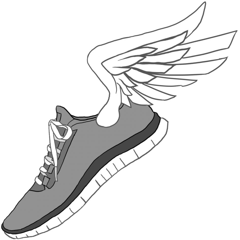 Drawing illustrations sport shoe. Sneakers clipart library