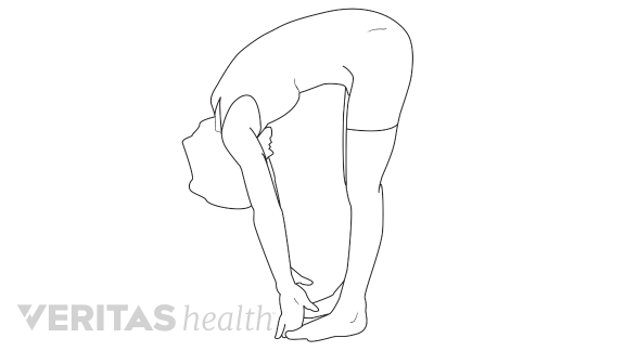 Drawing leg knee. Stretches to reduce