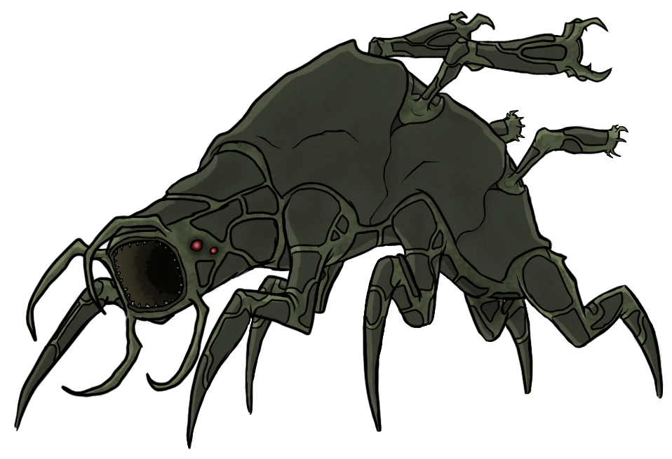 Drawing insects sci fi. Alien beast concept art