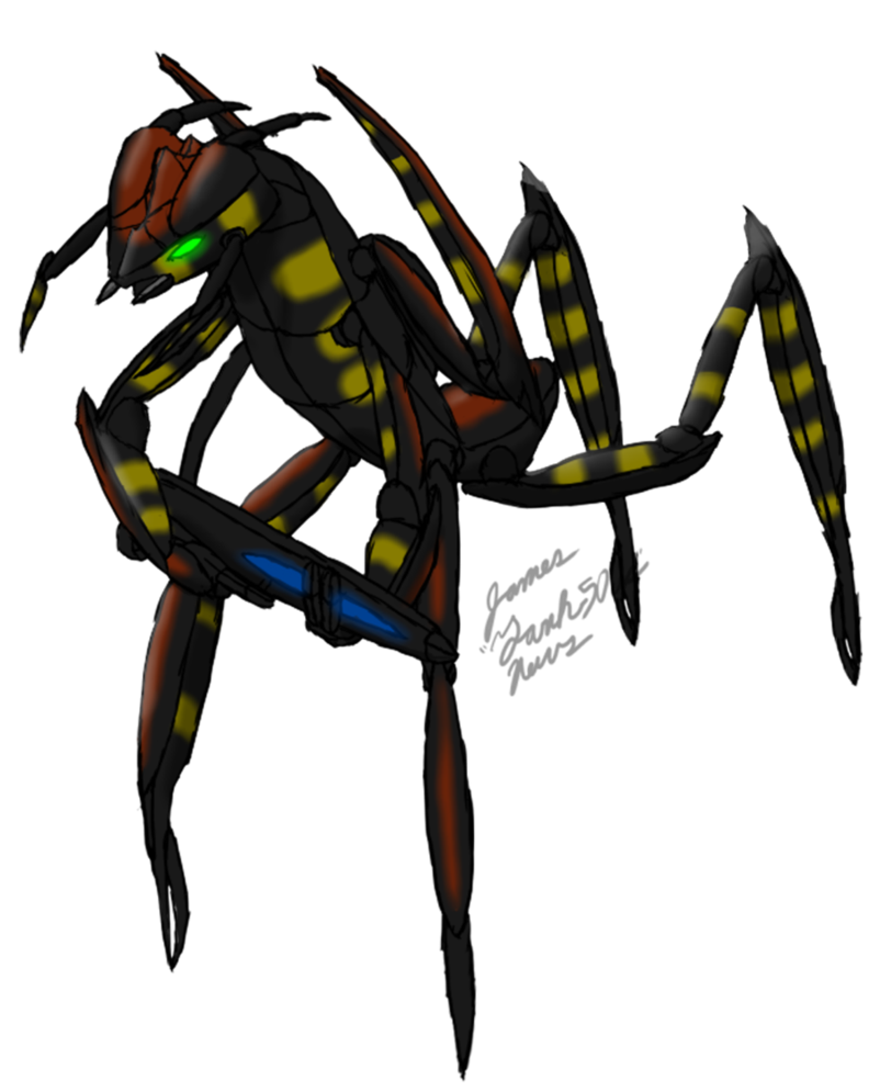 Drawing insects sci fi. Arachnid warrior by tank